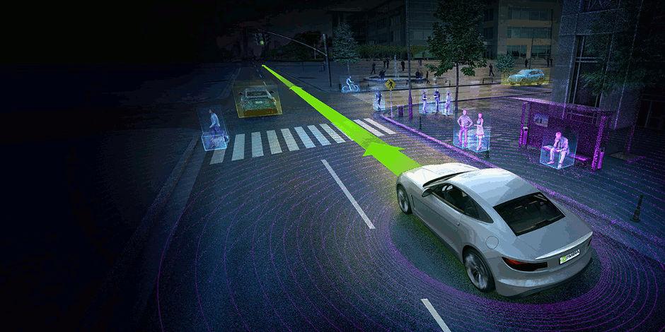 Auto a guida autonoma di Nvidia